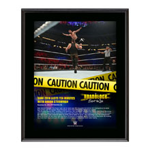 Sami Zayn RoadBlock 2016 10 x 13 Commemorative Photo Plaque