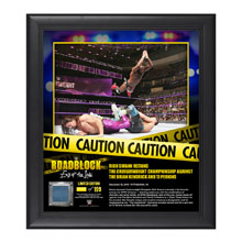 Rich Swann RoadBlock 2016 15 x 17 Framed Plaque w/ Ring Canvas