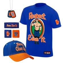 "John Cena ""Respect. Earn It."" T-Shirt Package"