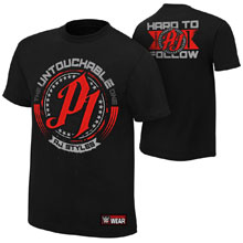 "AJ Styles ""Untouchable"" Authentic T-Shirt"