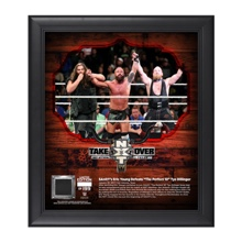 Eric Young NXT TakeOver San Antonio 15 x 17 Framed Plaque w/ Ring Canvas