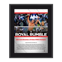 John Cena Royal Rumble 2017 10 x 13 Commemorative Photo Plaque