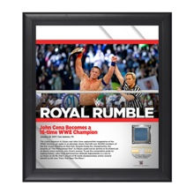 John Cena Royal Rumble 2017 15 x 17 Framed Plaque w/ Ring Canvas