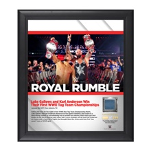 Luke Gallows and Karl Anderson Royal Rumble 2017 15 x 17 Framed Plaque w/ Ring Canvas
