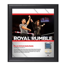 Nia Jax Royal Rumble 2017 15 x 17 Framed Plaque w/ Ring Canvas