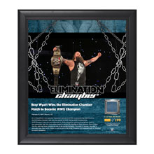 Bray Wyatt Elimination Chamber 2017 15 x 17 Framed Plaque w/ Ring Canvas