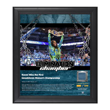 Naomi Elimination Chamber 2017 15 x 17 Framed Plaque w/ Ring Canvas