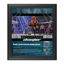 Becky Lynch Elimination Chamber 2017 15 x 17 Framed Plaque w/ Ring Canvas