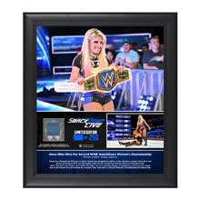 Alexa Bliss 2-Time SmackDown Women's Champion Framed Plaque w/ Ring Canvas