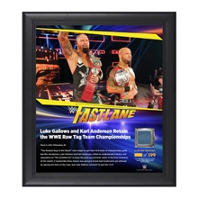 Gallows & Anderson FastLane 2017 15 x 17 Framed Plaque w/ Ring Canvas
