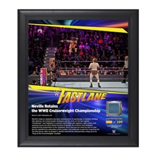 Neville FastLane 2017 15 x 17 Framed Plaque w/ Ring Canvas
