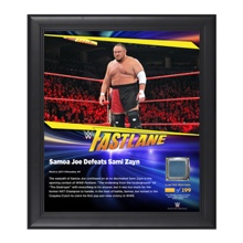 Samoa Joe FastLane 2017 15 x 17 Framed Plaque w/ Ring Canvas