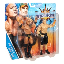 John Cena & The Rock WrestleMania 33 Series 2-Pack Action Figures