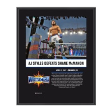 AJ Styles WrestleMania 33 10 X 13 Commemorative Photo Plaque