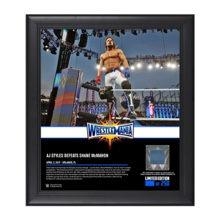 AJ Styles WrestleMania 33 15 x 17 Framed Plaque w/ Ring Canvas