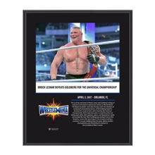 Brock Lesnar WrestleMania 33 10 X 13 Commemorative Photo Plaque