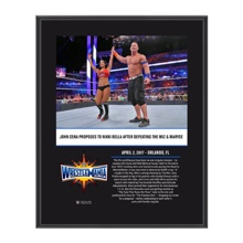 John Cena & Nikki Bella WrestleMania 33 10 X 13 Commemorative Photo Plaque