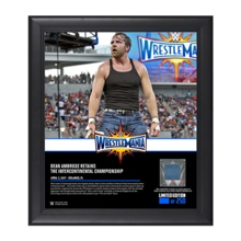 Dean Ambrose WrestleMania 33 15 x 17 Framed Plaque w/ Ring Canvas