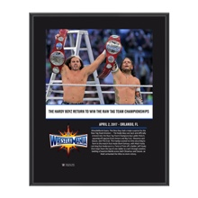 The Hardy Boyz WrestleMania 33 10 X 13 Commemorative Photo Plaque