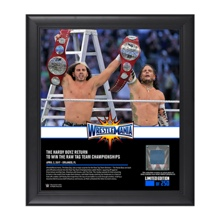Hardy Boyz WrestleMania 33 15 x 17 Framed Plaque w/ Ring Canvas