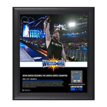 Kevin Owens WrestleMania 33 15 x 17 Framed Plaque w/ Ring Canvas