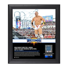 Mojo Rawley WrestleMania 33 15 x 17 Framed Plaque w/ Ring Canvas