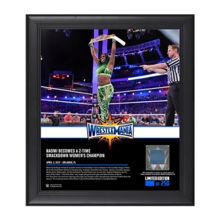 Naomi WrestleMania 33 15 x 17 Framed Plaque w/ Ring Canvas