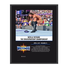 Neville WrestleMania 33 10 X 13 Commemorative Photo Plaque