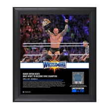 Randy Orton WrestleMania 33 15 x 17 Framed Plaque w/ Ring Canvas
