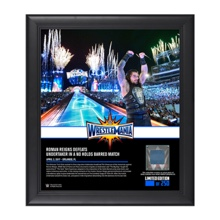 Roman Reigns WrestleMania 33 15 x 17 Framed Plaque w/ Ring Canvas