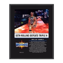 Seth Rollins WrestleMania 33 10 X 13 Commemorative Photo Plaque