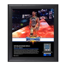 Seth Rollins WrestleMania 33 15 x 17 Framed Plaque w/ Ring Canvas