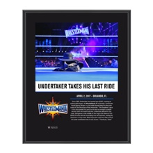 Undertaker WrestleMania 33 10 X 13 Commemorative Photo Plaque
