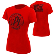 "AJ Styles ""Untouchable"" Red Women's T-Shirt"