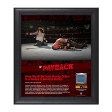 Bray Wyatt Payback 2017 15 x 17 Framed Plaque w/ Ring Canvas