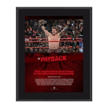 Chris Jericho Payback 2017 10 x 13 Commemorative Photo Plaque
