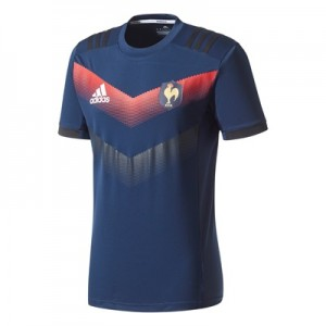 """""""France Rugby Performance T-Shirt – Collegiate Navy/Punjab/White"""""""