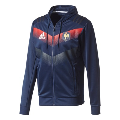 """France Rugby Hooded Sweater – Punjab/Collegiate Navy/White"""
