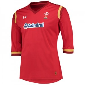 """Welsh Rugby Rugby Home Supporters Shirt 15/16 – Womens Red"""