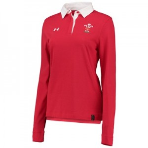 """Welsh Rugby Rugby Long Sleeve Jersey – Womens Red"""
