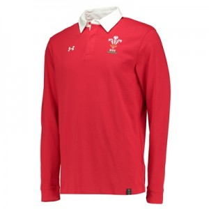 """Welsh Rugby Rugby Long Sleeve Jersey Red"""
