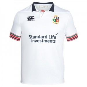 """British & Irish Lions Pro Training Rugby Shirt – Bright White"""