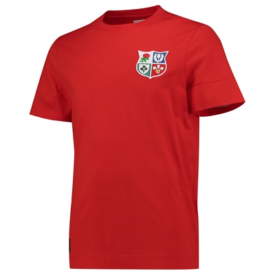 """British & Irish Lions Cut & Sew Panelled T-Shirt – Fiery Red"""