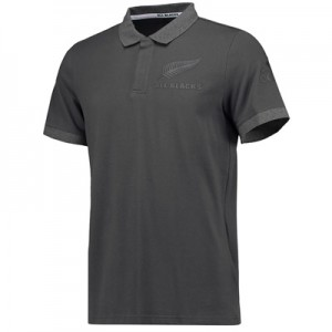 """All Blacks Anthem Polo – Dark Grey Heather"""
