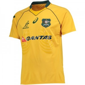 """Australia Test Shirt 17-18 – Gold"""