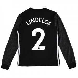 Manchester United Away Shirt 2017-18 – Kids – Long Sleeve with Lindelo