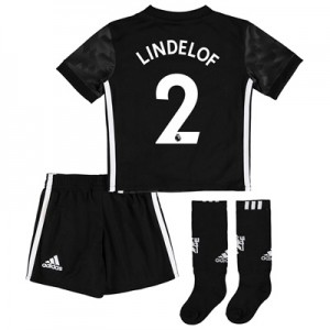 Manchester United Away Mini Kit 2017-18 with Lindelof 2 printing