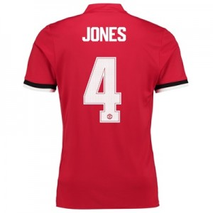 Manchester United Home Cup Shirt 2017-18 with Jones 4 printing