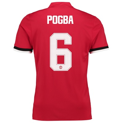 Manchester United Home Cup Shirt 2017-18 with Pogba 6 printing