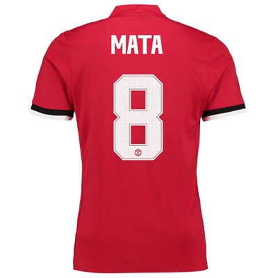 Manchester United Home Cup Shirt 2017-18 with Mata 8 printing